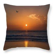 Seagull At Sunrise Throw Pillow