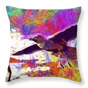 Seagull Birds Flight Wings Freedom  Throw Pillow