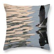 Seagull Fun Throw Pillow