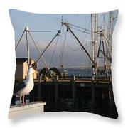 Seagull Morro Bay California Throw Pillow