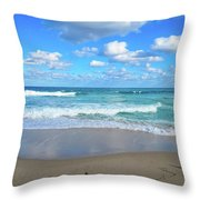 Seagull On The Atlantic Shore Throw Pillow