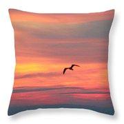 Seagull Silhouette Throw Pillow