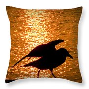 Seagull Silhouette Throw Pillow