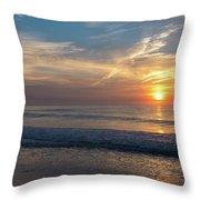 Seagull Sunrise Along The Jersey Shore Throw Pillow