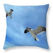 Seagulls # 6 Throw Pillow