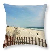 Seagulls Beach Throw Pillow