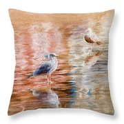 Seagulls - Impressions Throw Pillow