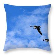 Seagulls2 Throw Pillow