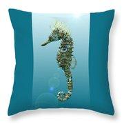 Seahorse 3d Render Throw Pillow