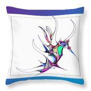 Seahorse Fun Throw Pillow