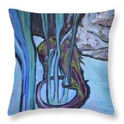 Seahorse Anchored Throw Pillow