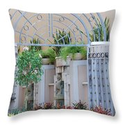 Seahorse Fountian Throw Pillow