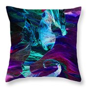 Seahorse In A Lightning Storm Throw Pillow