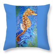 Seahorse Number 1 Throw Pillow