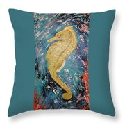 Seahorse Number 2 Throw Pillow