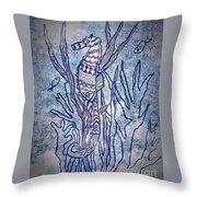 Seahorse World Throw Pillow