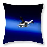 Seaing Airways Flying Over North Head Throw Pillow