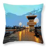 Seal Beach Evening  Throw Pillow