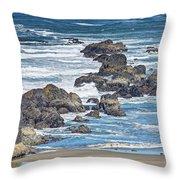Seal Rock Seascape Throw Pillow
