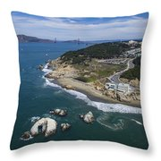 Seal Rocks At The Cliff House Throw Pillow
