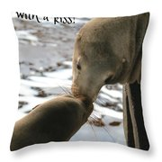Sealed With A Kiss Throw Pillow