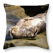 Sealed With A Smile Throw Pillow