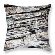 Abstract Rock Stone Texture Throw Pillow