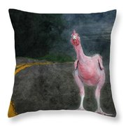 Seamore Nudist Camp Throw Pillow
