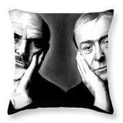Sean Connery And Michael Caine Throw Pillow
