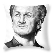 Sean Penn Throw Pillow