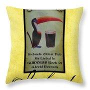 Seans Bar Guinness Pub Sign Athlone Ireland Throw Pillow