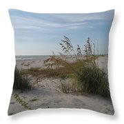 Seaoats On The Beach Throw Pillow