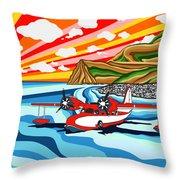 Seaplane 2 Throw Pillow