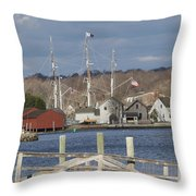 Seaport Before The Storm Throw Pillow