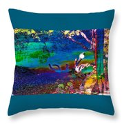 Searching For Shore Throw Pillow