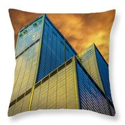 Sears Tower By Skidmore, Owings And Merrill Dsc4411 Throw Pillow