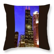 Sears Tower Chicago Throw Pillow