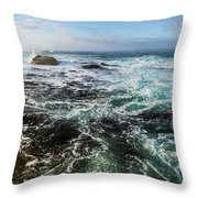 Seas Of The Wild West Coast Of Tasmania Throw Pillow