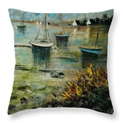 Seascape 78 Throw Pillow