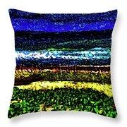 Seascape 99 Throw Pillow