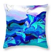 Seascape Adventures Throw Pillow