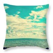 Seascape Cloudscape Instagramlike Throw Pillow