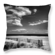 Seascape In Black And White Throw Pillow