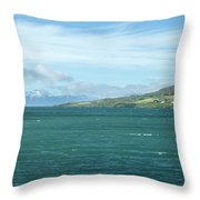 Seascape In Iceland On Summer  Throw Pillow
