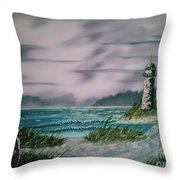 Seascape Lighthouse Throw Pillow