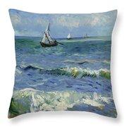 Seascape Near Les Saintes Maries De La Mer Arles June 1888 Vincent Van Gogh 1853  1890 Throw Pillow