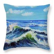 Seascape No.3 Throw Pillow