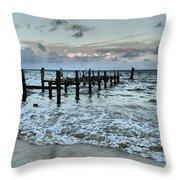 Seascape Puerto Morelos Throw Pillow
