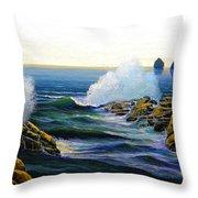 Seascape Study 3 Throw Pillow
