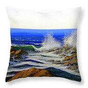 Seascape Study 4 Throw Pillow